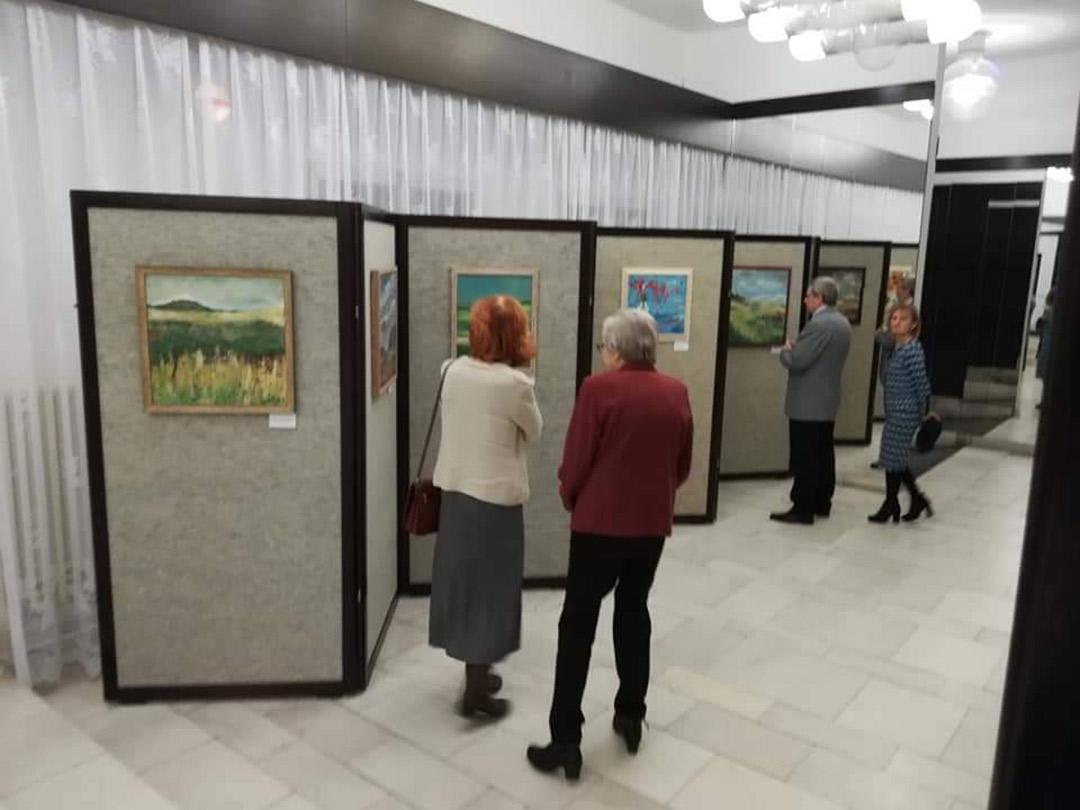 Vernisáž výstavy obrazů Vlaďky Zborníkové v divadle v Novém Boru 2020