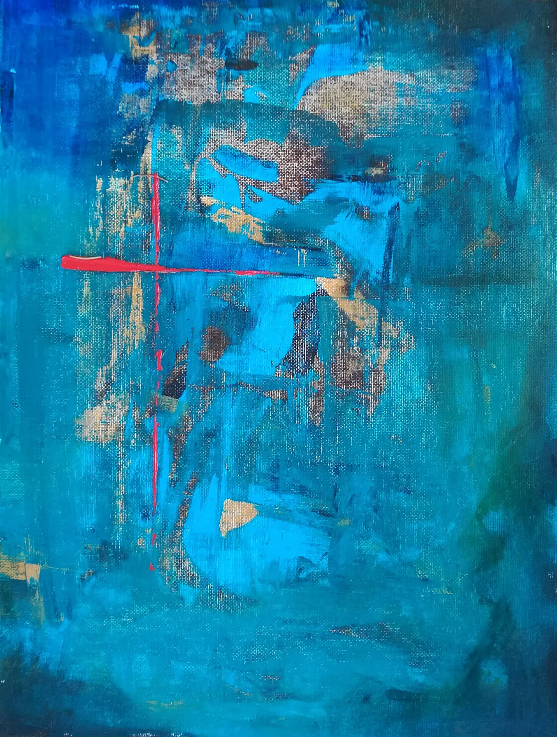 Abstraktní obraz Být či nebýt z ateliéru Vlaďky Zborníkové