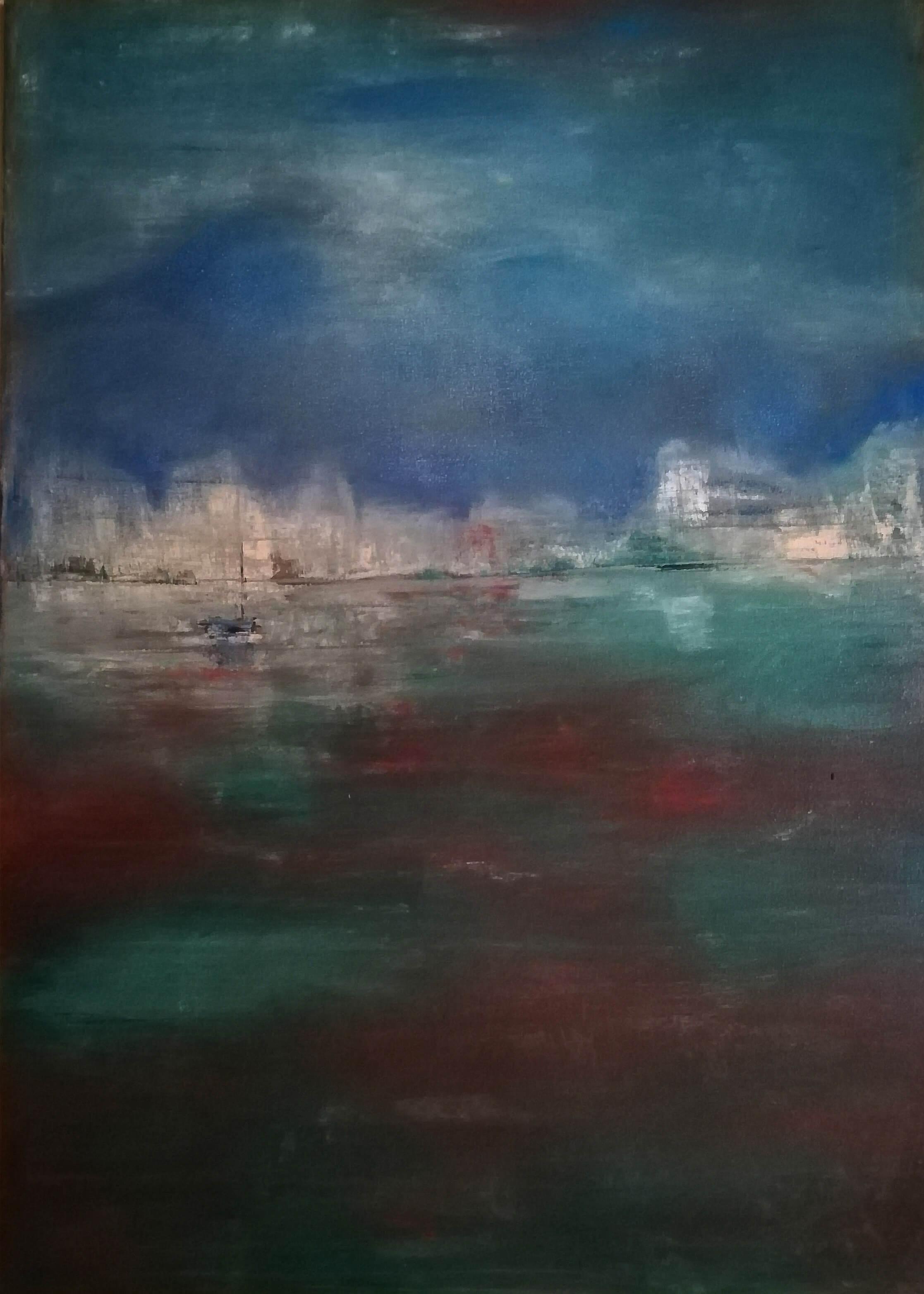 Obraz Pobřeží namalovaný Vlaďkou Zborníkovou