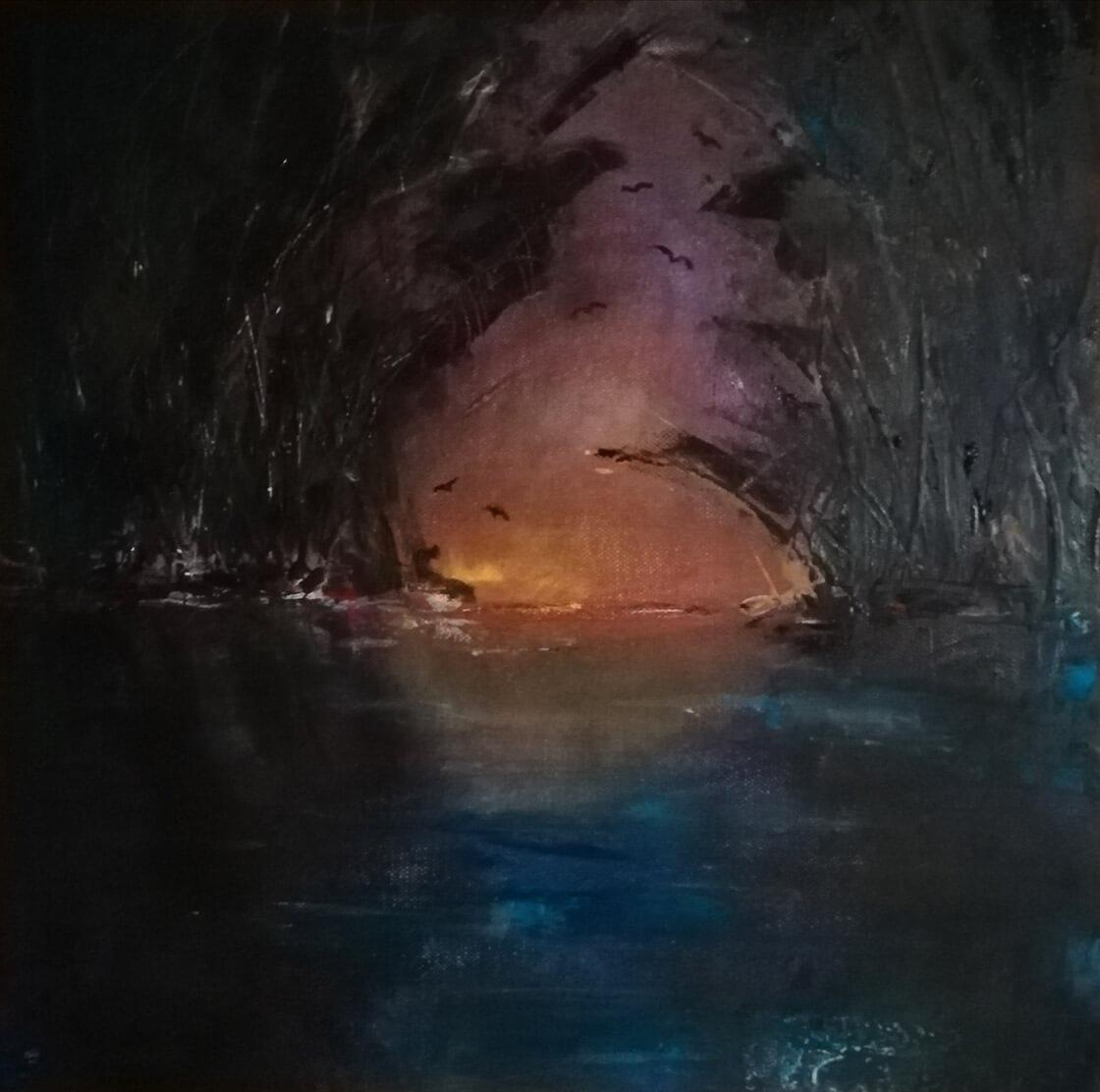 Obraz Kókytos namalovaný Vlaďkou Zborníkovou